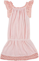 Scotch R'Belle CROCHET- & MACRAMÉ-DETAILED COTTON JERSEY DRESS-PINK, NO COLOR SIZE 4