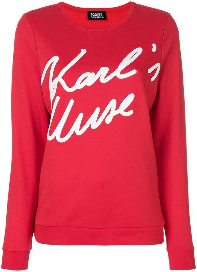 Karl Lagerfeld Paris Karl's Muse sweatshirt