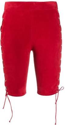 Unravel Project slim-fit lace-up shorts