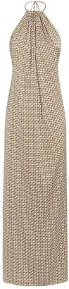 Jonathan Simkhai Printed Halterneck Maxi Dress