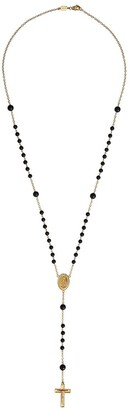 Dolce & Gabbana 18kt Yellow Gold Sapphire Rosary Necklace