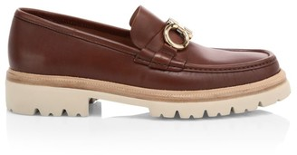 Salvatore Ferragamo Bleecker Lug Sole Leather Loafers