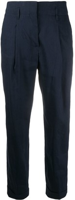 Peserico Tapered Turn-Up Trousers