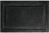 "InterDesign Microfiber Bathroom Shower Accent Rug - 34"" x 21"", Black"