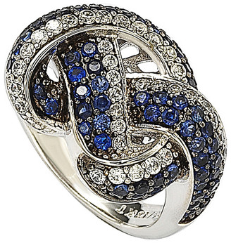 LeVian Suzy Diamonds Suzy 18K & Silver 2.50 Ct. Tw. Sapphire Love Knot Ring
