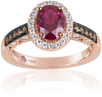 Suzy Levian Pink Rhodium Plated Sterling Silver Get Lost In Lively CZ Ring