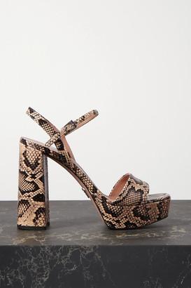 Prada Watersnake Platform Sandals - Snake print