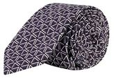 Burton Mens Purple and White Triangle Printed Tie