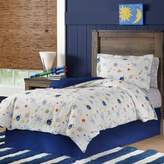 Lullaby Bedding Space 3-Piece Full/Queen Duvet Cover Set in White/Blue