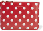 Comme des Garcons Polka-dot Leather Pouch - Red