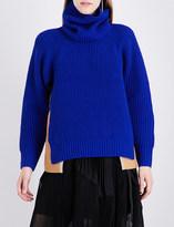 Sacai Two-tone wool jumper