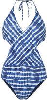 Tory Burch tie-dye swimsuit - women - Nylon/Spandex/Elastane - XS