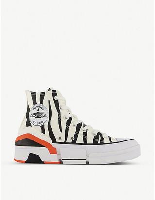 Converse CPX 70 zebra-print canvas high-top trainers