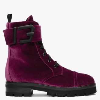 Roberto Festa Toronto Red Velvet Ankle Boots