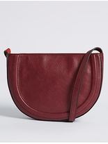 M&S Collection Faux Leather Half Moon Across Body Bag
