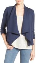Caslon Knit Drape Front Jacket (Regular & Petite)