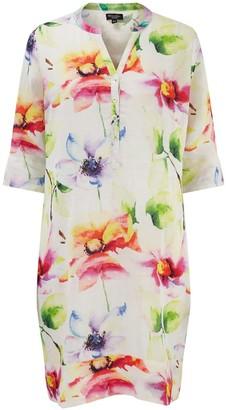 Nologo Chic Florence Flower Linen Tunic Dress