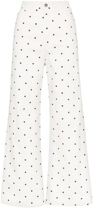 Eve Denim Charlotte polka dot jeans