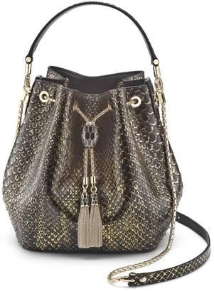 Bvlgari Python Serpenti Forever Bucket Bag