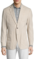 Billy Reid Rustin Linen Notch Lapel Blazer