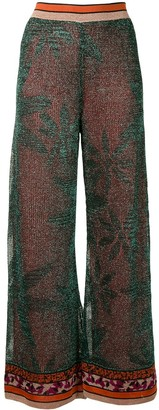 M Missoni Metallic-Threaded Trousers