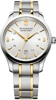 Victorinox 241477 Alliance Two Tone Bracelet Strap Watch, Silver/gold