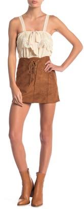 Raga Rivka Faux Suede Mini Skirt