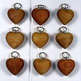 Nest Wooden Heart Keyring