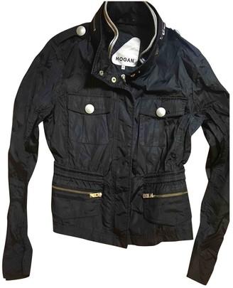 Hogan Blue Leather Jacket for Women