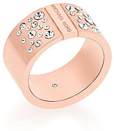 Michael Kors Pave Crystal Barrel Ring