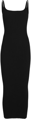 Paco Rabanne Ribbed Knit Maxi Dress