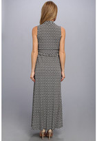 Vince Camuto Desert Tile Halter Maxi Dress