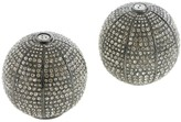 L'OBJET Sphere Salt & Pepper Shakers with White Swarovski - Noir Oxidized