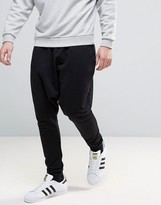 Asos Extreme Drop Crotch Jogger In Black