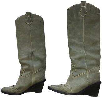 Maison Margiela Green Leather Boots
