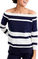 J.Crew Women's Off The Shoulder Stripe Top