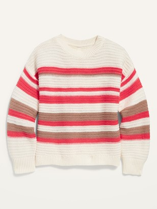 Old Navy Textured Hi-Lo Split-Back Pullover Sweater for Girls