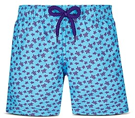 Vilebrequin Boys' Micro Turtle Print Swim Trunks - Little Kid, Big Kid