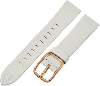 Hadley Roma b&nd by Hadley-Roma with Mode White 20mm Genuine Leather Watch Band