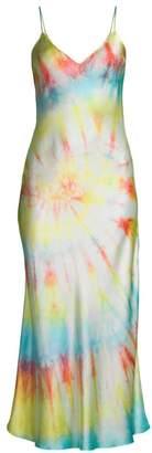 Dannijo Tie Dye Silk Slip Dress