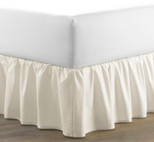 Laura Ashley King Solid Ruffle Ivory Bedskirt Bedding