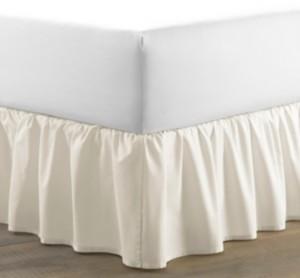 Laura Ashley Twin Solid Ruffle Ivory Bedskirt Bedding