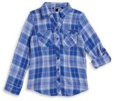 Planet Gold Plaid Flannel Top