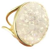 Eliza Page White Druzy Ring