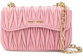 Miu Miu Matelasse-effect shoulder bag