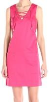 Calvin Klein Pink Lace Up Grommet Women's Size 12 Sheath Dress