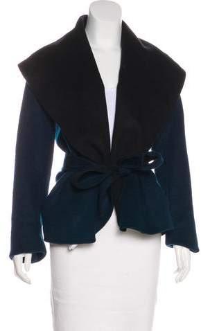 Diane von Furstenberg Wool Shawl-Lapel Jacket