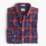J.Crew Slim Secret Wash shirt in blue-and-red plaid