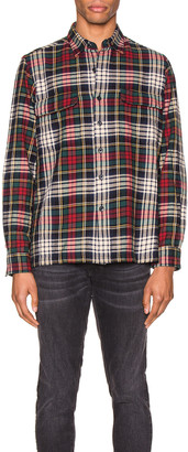 Polo Ralph Lauren Long Sleeve Shirt in Green & Tan Multi | FWRD