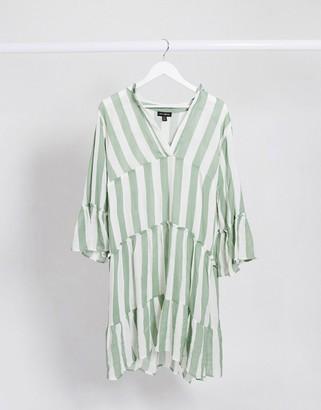 Qed London stripe smock dress